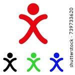 x generation boy icon. vector...   Shutterstock .eps vector #739733620