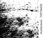 grunge black white. monochrome... | Shutterstock .eps vector #739736020