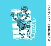 the lizard vector   Shutterstock .eps vector #739737934