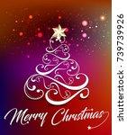 christmas celebration... | Shutterstock .eps vector #739739926