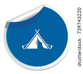 stylized icon of tourist tent.... | Shutterstock .eps vector #739743220