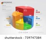 3d pie chart infographic ... | Shutterstock .eps vector #739747384