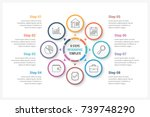 circle infographics template... | Shutterstock .eps vector #739748290