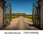 property  winery  entrance gate ... | Shutterstock . vector #739749940