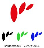 flora leaf abstraction icon....   Shutterstock .eps vector #739750018