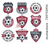 football vector collection of