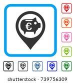 euro bank pointer icon. flat...