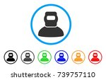 welder rounded icon. style is a ... | Shutterstock .eps vector #739757110