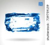 blue brush stroke and texture.... | Shutterstock .eps vector #739759159