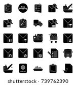 shipping icons   Shutterstock .eps vector #739762390