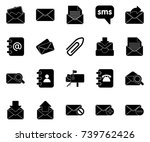 mail icons | Shutterstock .eps vector #739762426