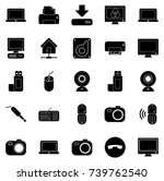 devices icons | Shutterstock .eps vector #739762540