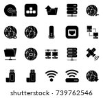connection icons | Shutterstock .eps vector #739762546