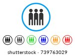 persons rounded icon. style is... | Shutterstock .eps vector #739763029