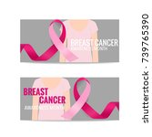 breast cancer awareness month... | Shutterstock .eps vector #739765390