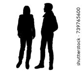 vector silhouettes of man and... | Shutterstock .eps vector #739765600