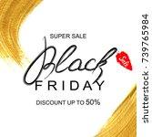 black friday sale flyer... | Shutterstock .eps vector #739765984