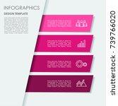 infographic template. vector...   Shutterstock .eps vector #739766020