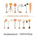 set of colorful cartoon floor... | Shutterstock .eps vector #739767016