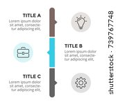 vector arrows timeline... | Shutterstock .eps vector #739767748