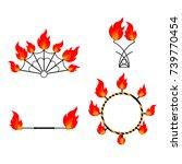 flat design elements of fire... | Shutterstock .eps vector #739770454