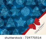 christmas and new year. vector... | Shutterstock .eps vector #739770514