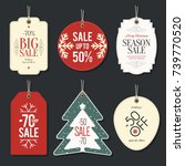 retail sale tags and clearance... | Shutterstock .eps vector #739770520