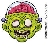 vector illustration of cartoon... | Shutterstock .eps vector #739772770