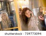 selective focus of beautiful... | Shutterstock . vector #739773094