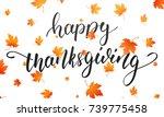 thanksgiving. happy...   Shutterstock .eps vector #739775458