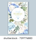 vector floral banner with... | Shutterstock .eps vector #739776883