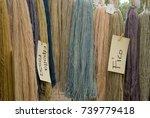 flax fiber hank  birch   pink ...