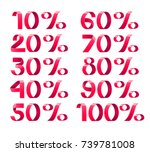 percent vector illustration.... | Shutterstock .eps vector #739781008