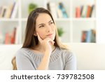 front view portrait of a woman... | Shutterstock . vector #739782508