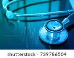 modern mobile medical... | Shutterstock . vector #739786504