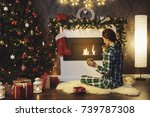 christmas or new year... | Shutterstock . vector #739787308