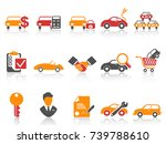 orange red color series car... | Shutterstock .eps vector #739788610