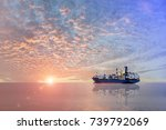 Cargo Ship At The Port Trad On...