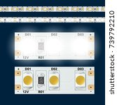 realistic 12v on and off led... | Shutterstock .eps vector #739792210