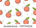 Peaches Seamless Pattern....