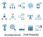 blue color series computer... | Shutterstock .eps vector #739794490