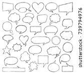 think   talk speech bubbles.... | Shutterstock .eps vector #739794976