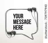 innovative vector music... | Shutterstock .eps vector #739797940