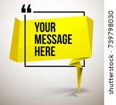 abstract vector illustration... | Shutterstock .eps vector #739798030