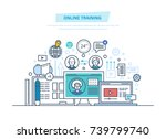 online education  training... | Shutterstock .eps vector #739799740