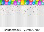 celebration background and... | Shutterstock .eps vector #739800700