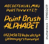 hand drawn calligraphy brush... | Shutterstock .eps vector #739802659