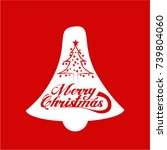 merry christmas vector text... | Shutterstock .eps vector #739804060