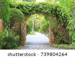 Stone arch entrance gate...
