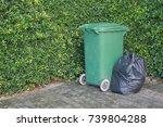 plastic trash bags and rubbish... | Shutterstock . vector #739804288